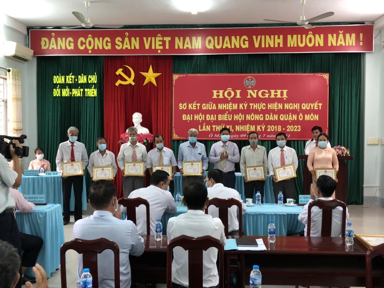 Nửa nhiệm kỳ 2018-2023, Hội Nông dân quận Ô Môn thực hiện đạt 10/14 chỉ tiêu Nghị quyết